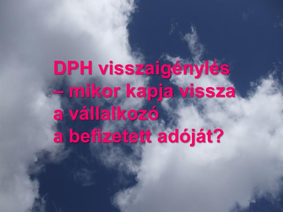 DPH visszaigenyles