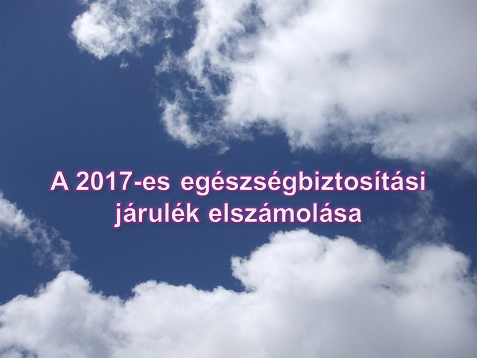 A 2017-es egeszsegbiztositasi jarulek elszamolasa