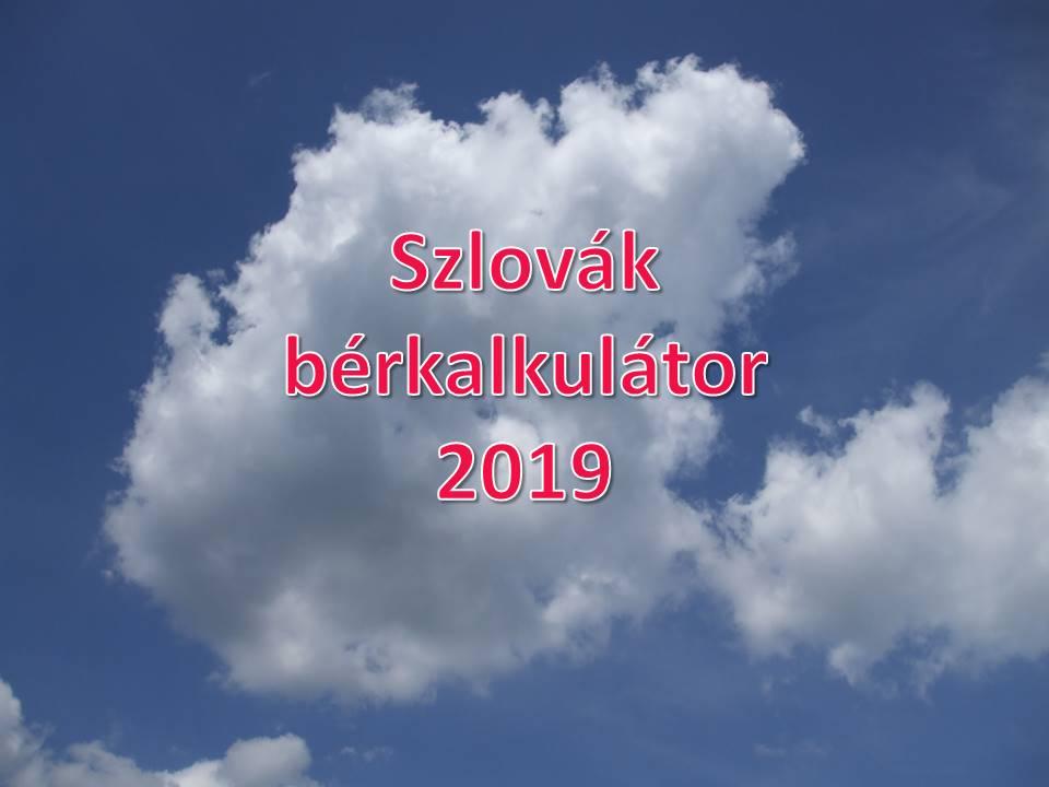 Szlovak berkalkulator 2019
