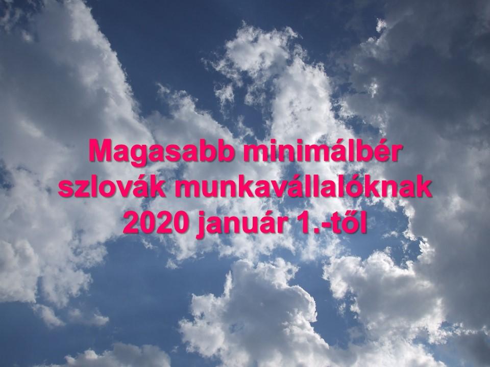 Magasabb minimálbér szlovák munkavállalóknak 2020