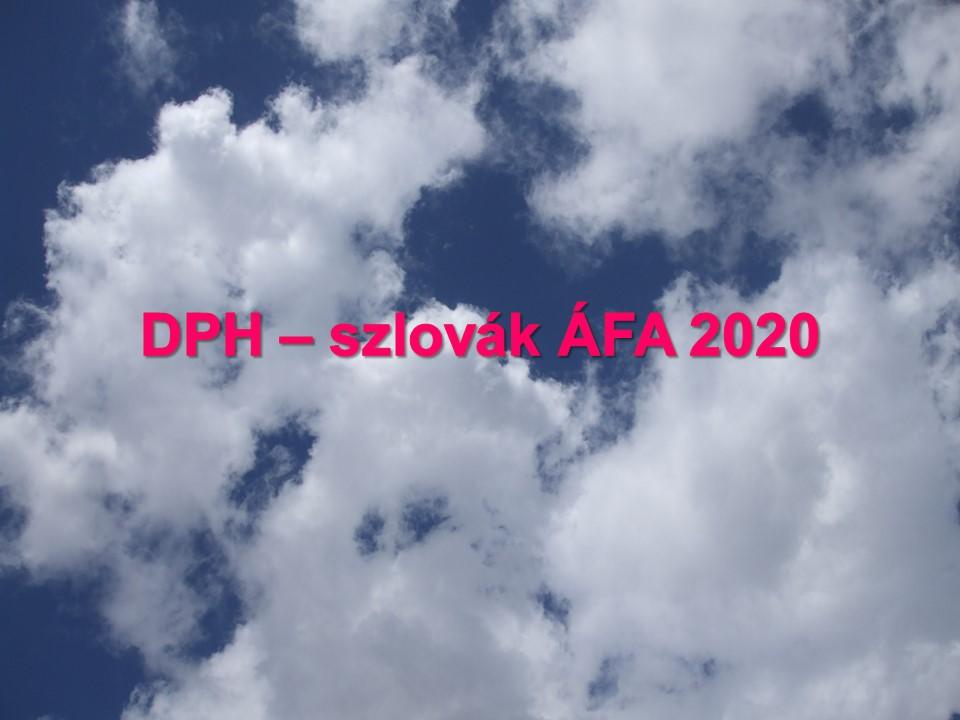 DPH – szlovák ÁFA 2020