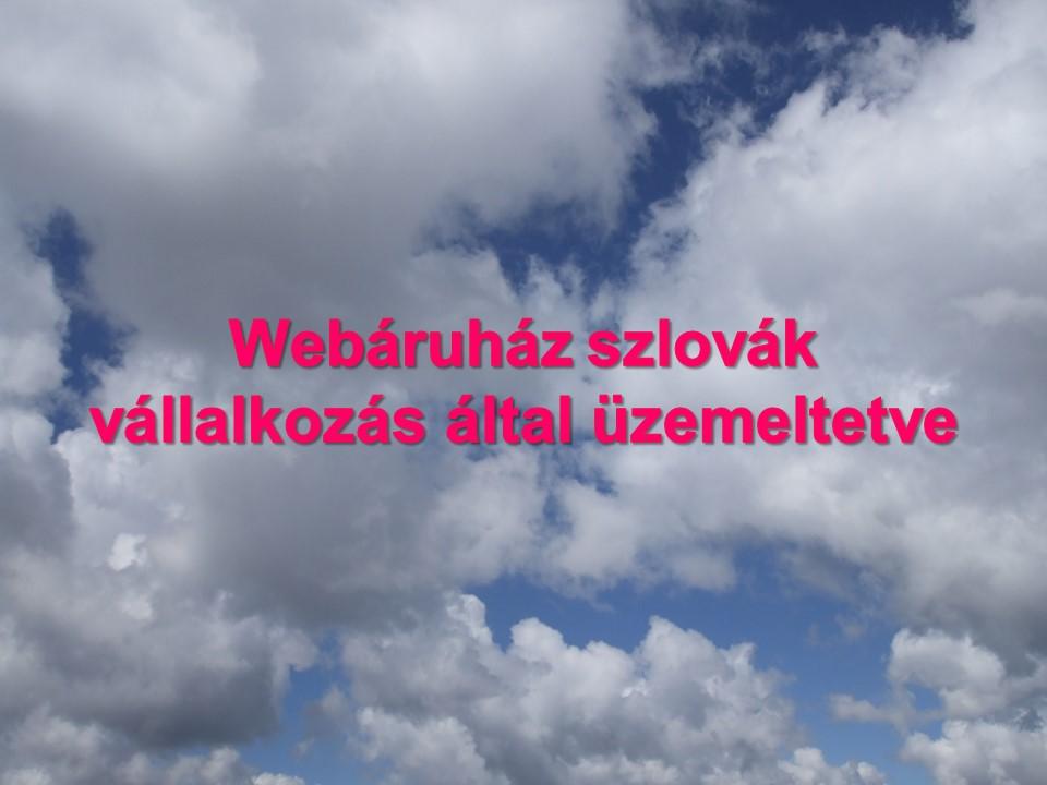 Webáruház szlovák vállalkozás által üzemeltetve