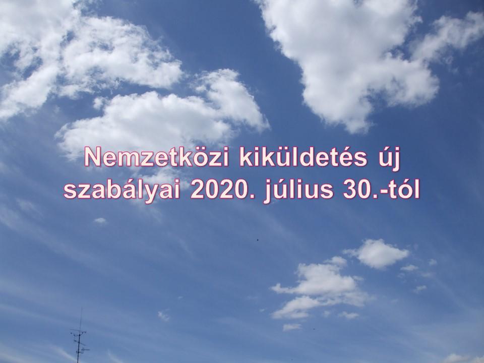 Nemzetközi kiküldetés új szabályai 2020. július 30.-tól