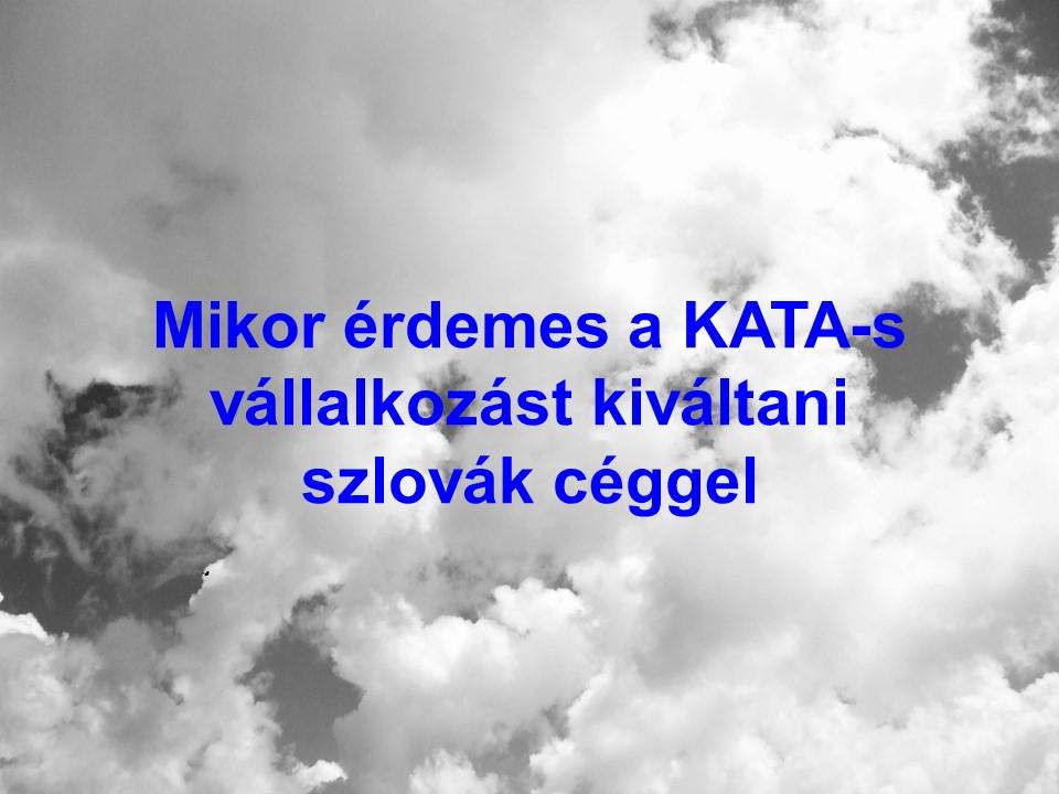 Mikor érdemes a KATA-s vállalkozást kiváltani szlovák céggel