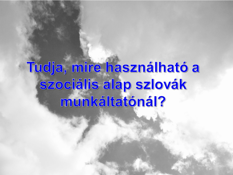 Tudja, mire használható a szociális alap szlovák munkáltatónál?