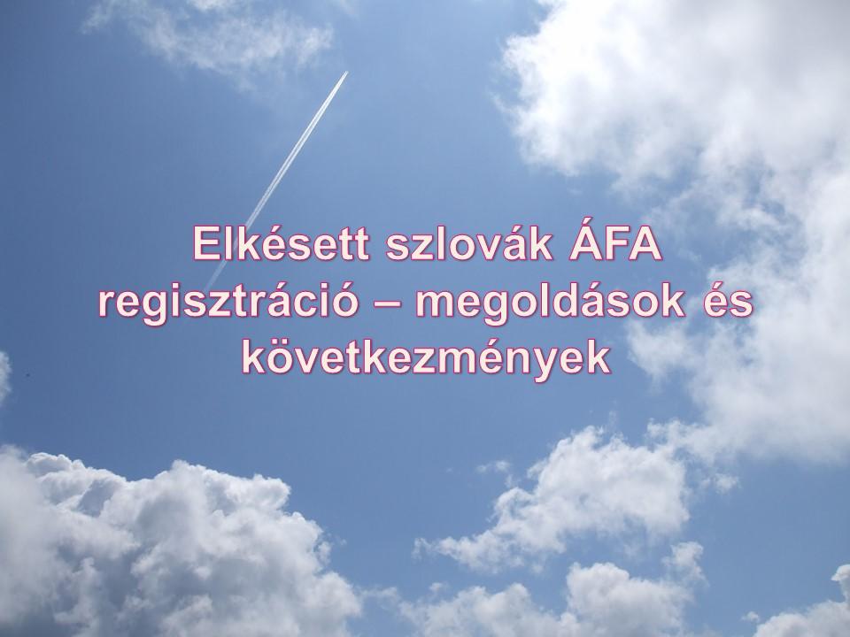 Elkésett szlovák ÁFA regisztráció – megoldások és következmények