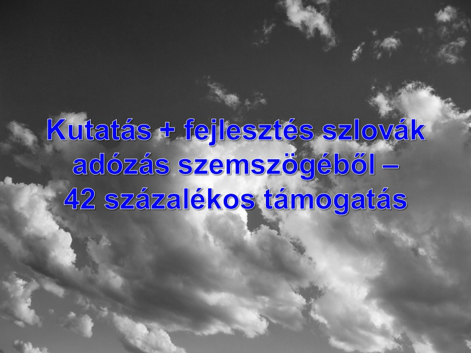 Kutatás + fejlesztés szlovák adózás szemszögéből – 42 százalékos támogatás