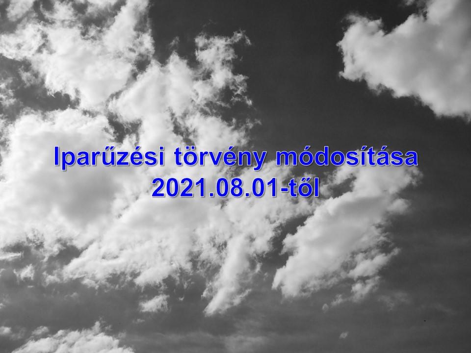 Iparűzési törvény módosítása 2021. augusztus 01-től