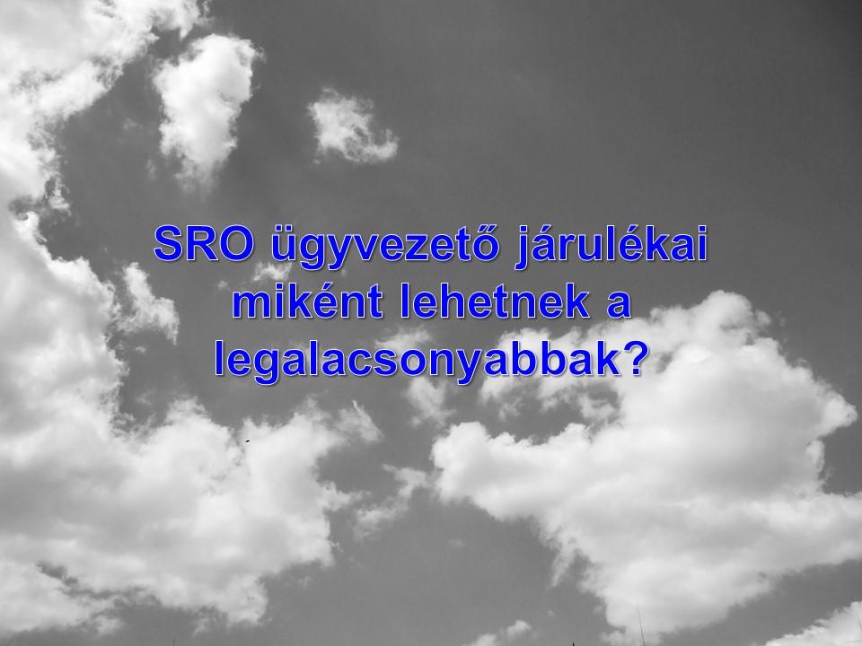 SRO ügyvezető járulékai miként lehetnek a legalacsonyabbak?