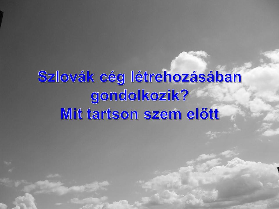 Szlovák cég létrehozásában gondolkozik? Mit tartson szem előtt