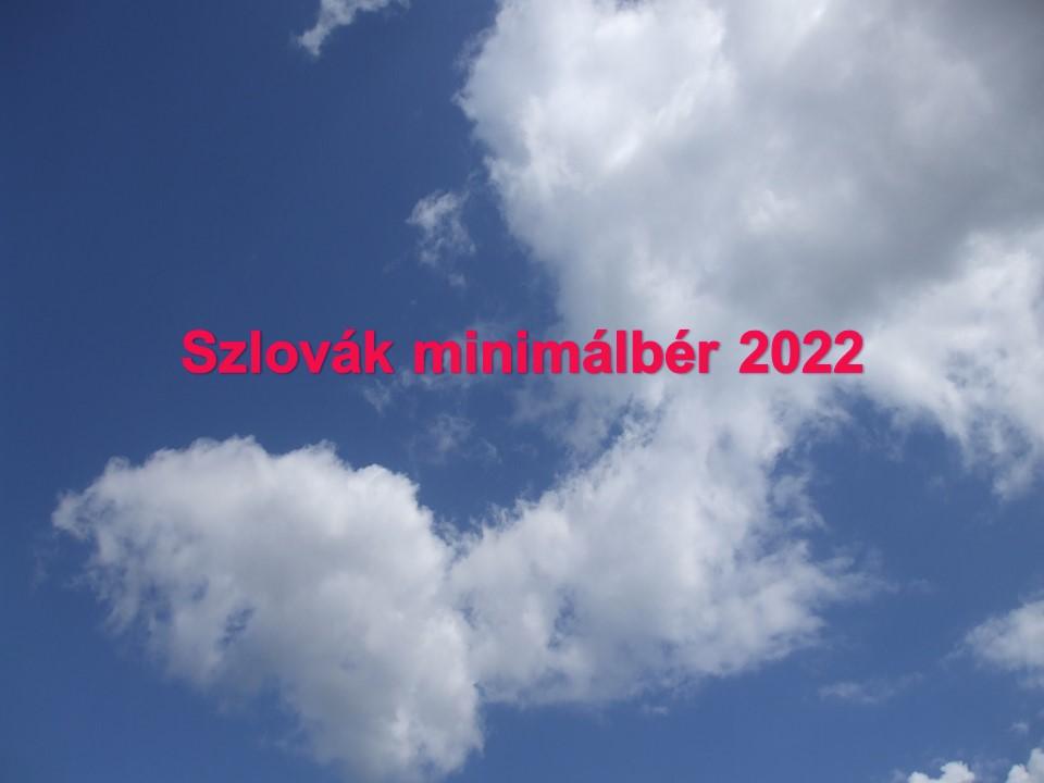 Szlovák minimálbér 2022