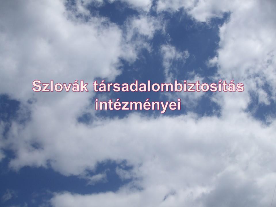 Szlovák társadalombiztosítás intézményei
